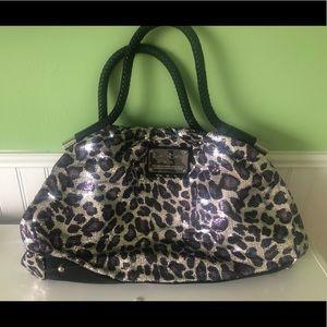 Sparkled cheetah print Bebe shoulder bag